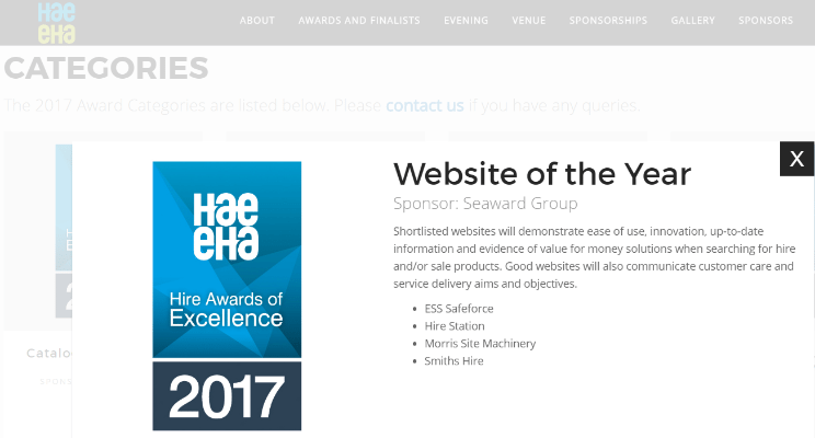 Hire Awards of Excellence 2017