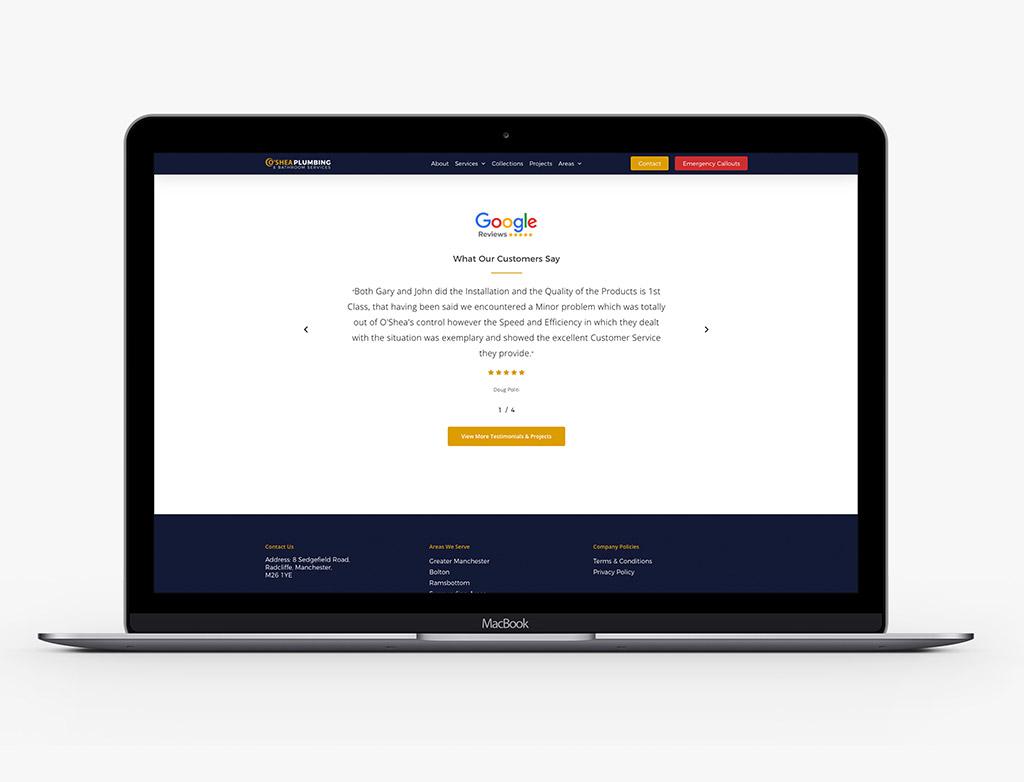 Oshea Web Design Agency Chorley 1
